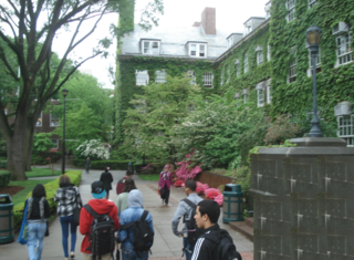 Ingersoll hall campus tour map ivy covered building